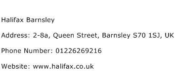 Halifax Barnsley Address Contact Number