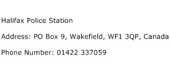 Halifax Police Station Address Contact Number