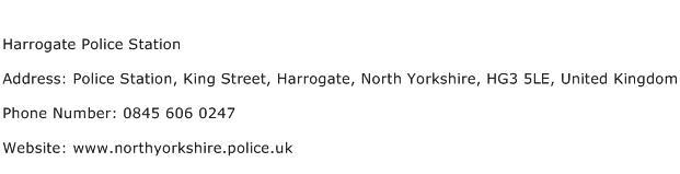 Harrogate Police Station Address Contact Number