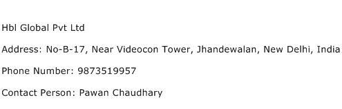 Hbl Global Pvt Ltd Address Contact Number