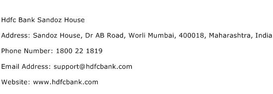 hdfc bank cards division chennai contact number