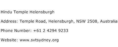 Hindu Temple Helensburgh Address Contact Number