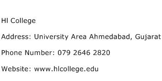 Hl College Address Contact Number