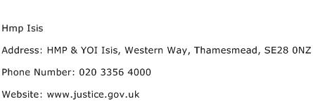 Hmp Isis Address Contact Number