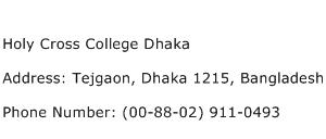 Holy Cross College Dhaka Address Contact Number