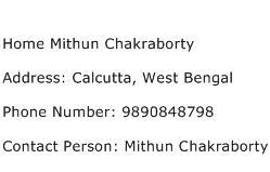 Home Mithun Chakraborty Address Contact Number