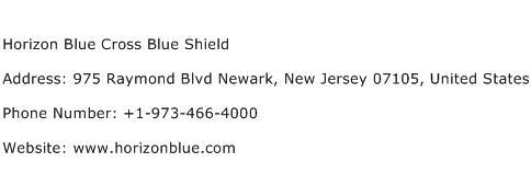 Horizon Blue Cross Blue Shield Address Contact Number