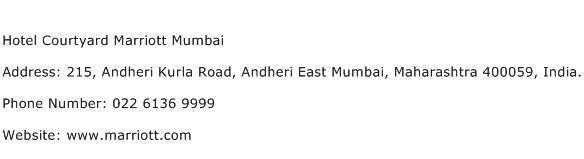 Hotel Courtyard Marriott Mumbai Address Contact Number