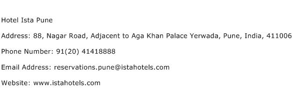Hotel Ista Pune Address Contact Number