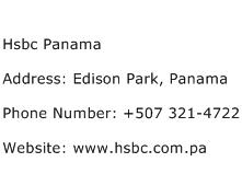 Hsbc Panama Address Contact Number