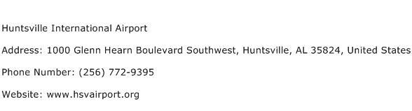 Huntsville International Airport Address Contact Number