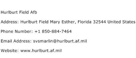 Hurlburt Field Afb Address Contact Number