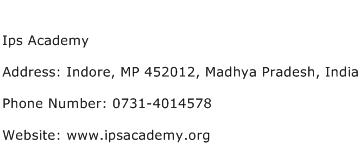 IPS Academy Address Contact Number