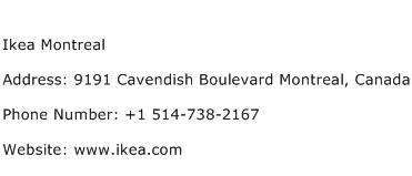 Ikea Montreal Address Contact Number