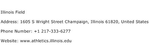 Illinois Field Address Contact Number
