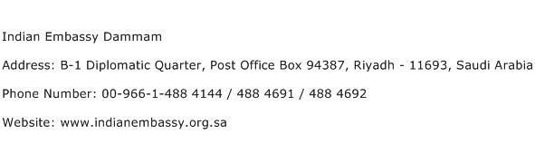 Indian Embassy Dammam Address Contact Number
