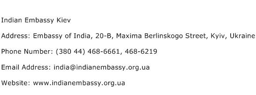 Indian Embassy Kiev Address Contact Number
