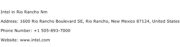 Intel in Rio Rancho Nm Address Contact Number