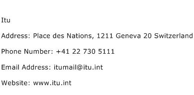Itu Address Contact Number