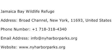 Jamaica Bay Wildlife Refuge Address Contact Number