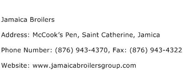 Jamaica Broilers Address Contact Number