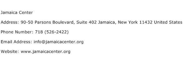 Jamaica Center Address Contact Number
