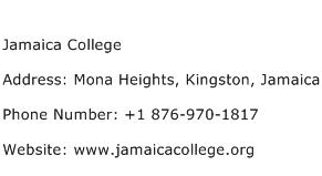 Jamaica College Address Contact Number