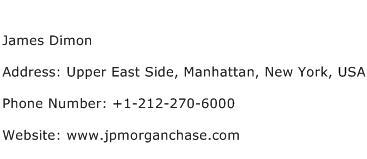 James Dimon Address Contact Number