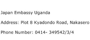 Japan Embassy Uganda Address Contact Number