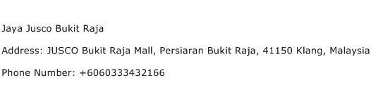Jaya Jusco Bukit Raja Address Contact Number