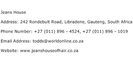 Jeans House Address Contact Number
