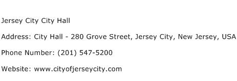 Jersey City City Hall Address Contact Number
