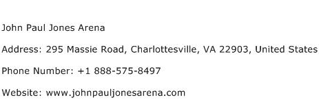 John Paul Jones Arena Address Contact Number