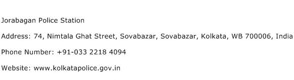 Jorabagan Police Station Address Contact Number