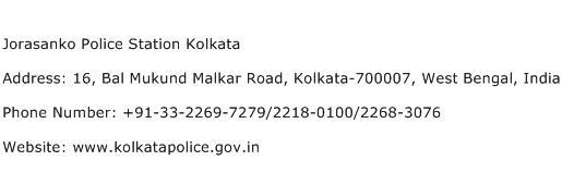 Jorasanko Police Station Kolkata Address Contact Number