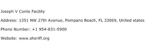 Joseph V Conte Facility Address Contact Number
