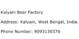 Kalyani Beer Factory Address Contact Number