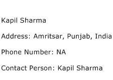 Kapil Sharma Address Contact Number