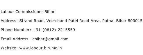 Labour Commissioner Bihar Address Contact Number