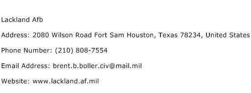 Lackland Afb Address Contact Number