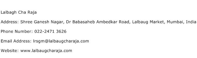 Lalbagh Cha Raja Address Contact Number