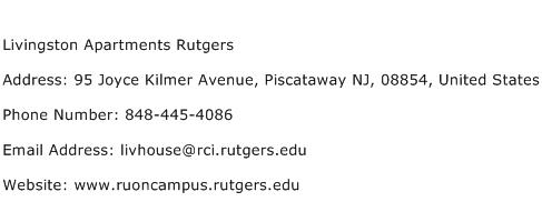 Livingston Apartments Rutgers Address Contact Number