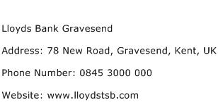 Lloyds Bank Gravesend Address Contact Number