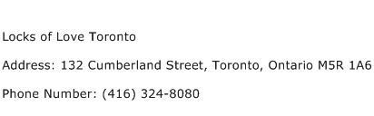 Locks of Love Toronto Address Contact Number