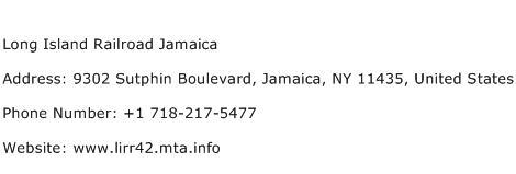 Long Island Railroad Jamaica Address Contact Number