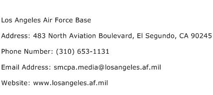 Los Angeles Air Force Base Address Contact Number