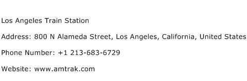Los Angeles Train Station Address Contact Number