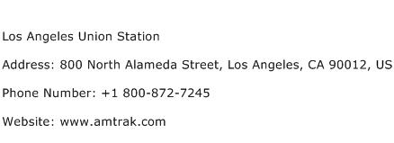 Los Angeles Union Station Address Contact Number