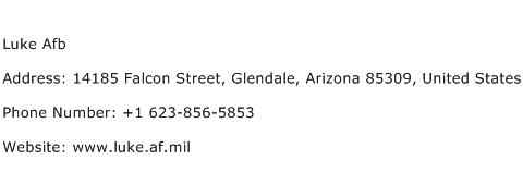 Luke Afb Address Contact Number