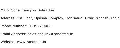 Mafoi Consultancy in Dehradun Address Contact Number